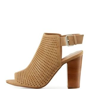 Brown Tahari Suede Perforated Sandal (NWT)